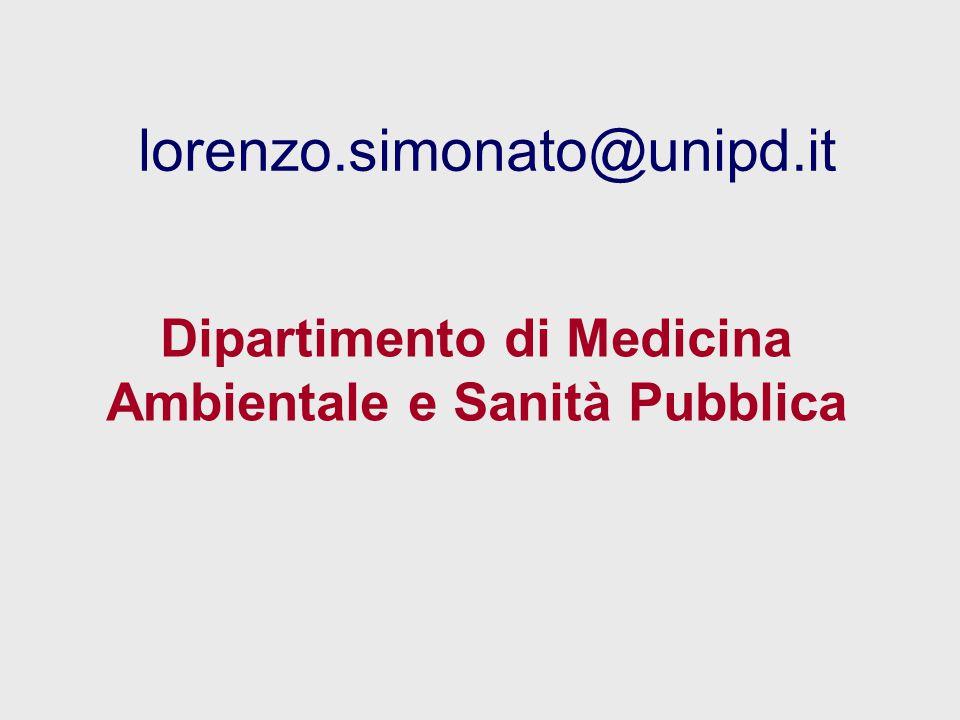 Dipartimento di Medicina Ambientale e Sanità Pubblica