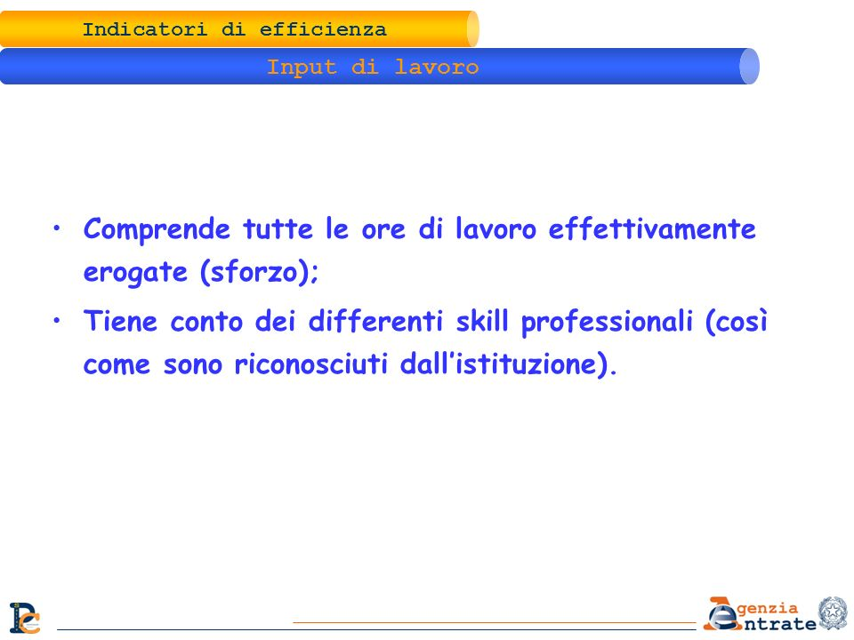 Indicatori di efficienza