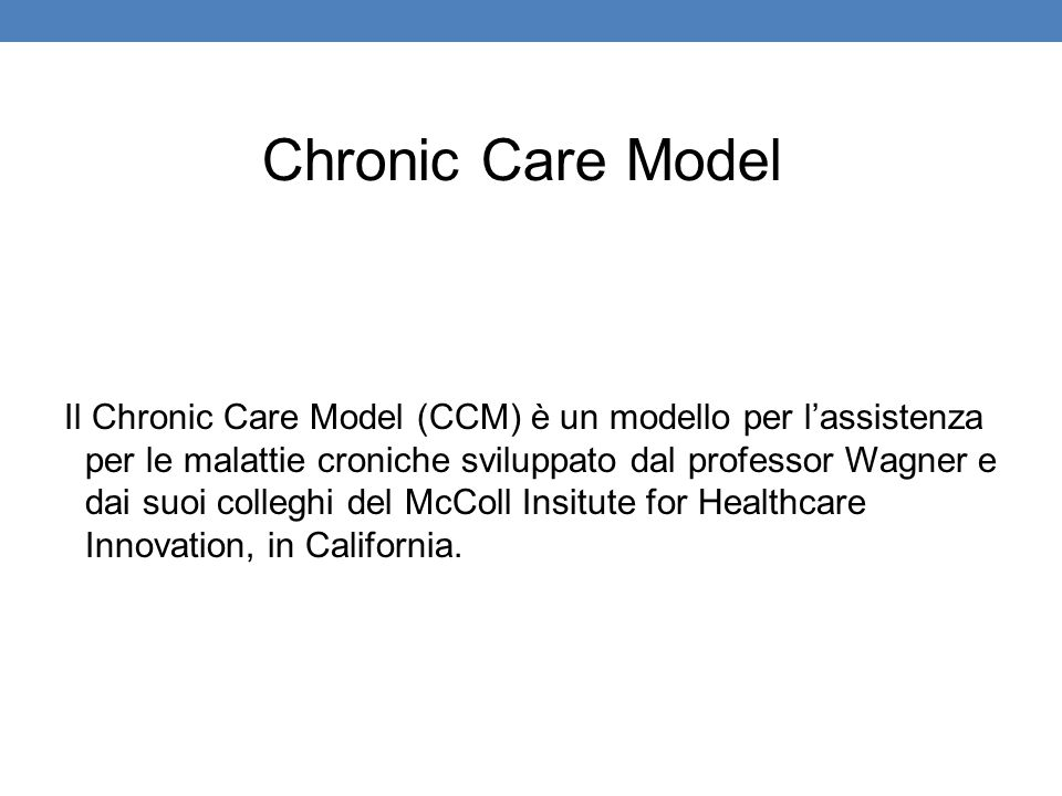 Chronic Care Model