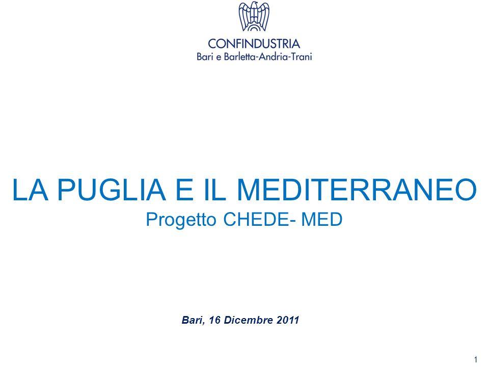 LA PUGLIA E IL MEDITERRANEO Progetto CHEDE- MED