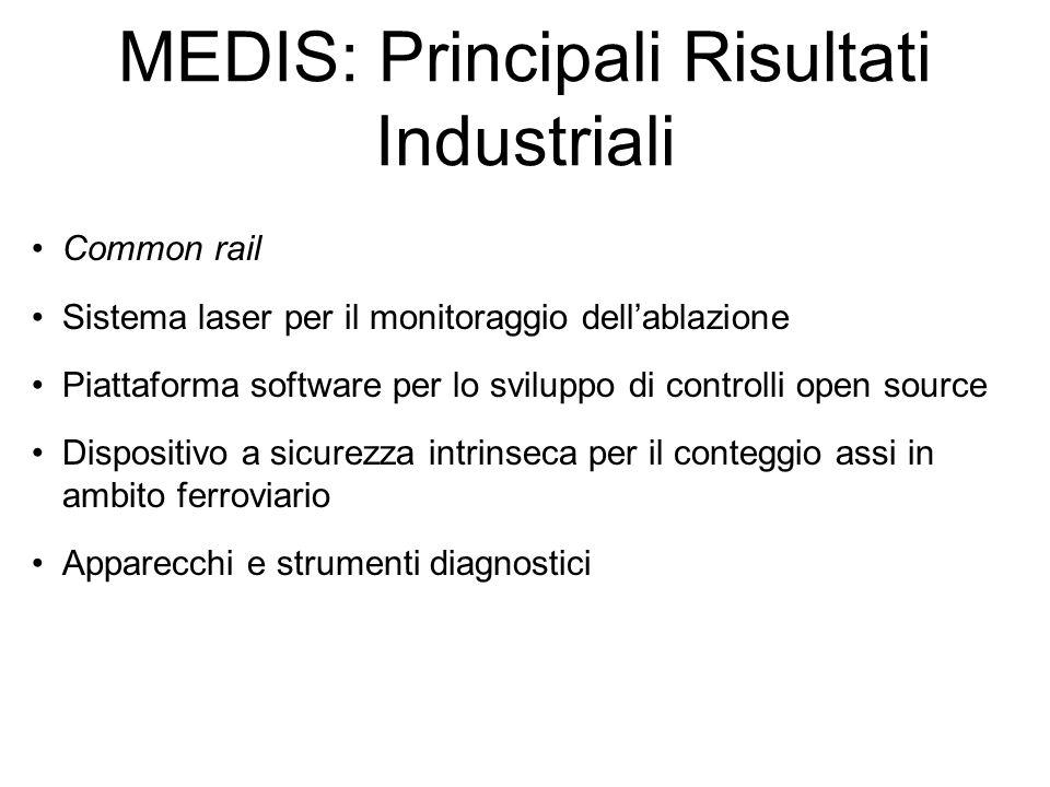 MEDIS: Principali Risultati Industriali