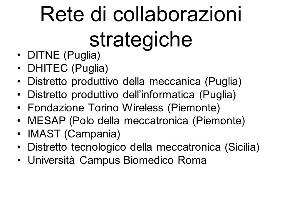 Rete di collaborazioni strategiche