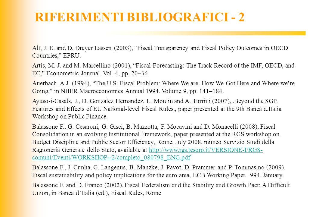 RIFERIMENTI BIBLIOGRAFICI - 2