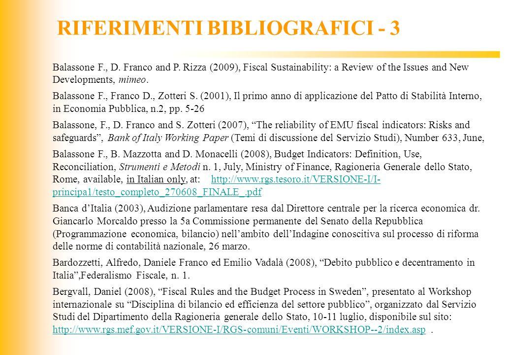 RIFERIMENTI BIBLIOGRAFICI - 3