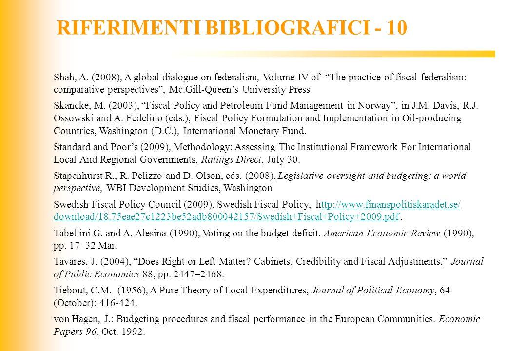 RIFERIMENTI BIBLIOGRAFICI - 10