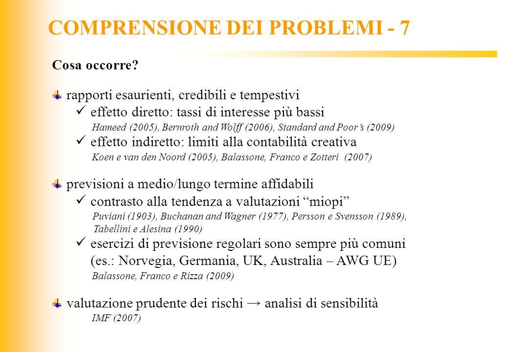COMPRENSIONE DEI PROBLEMI - 7