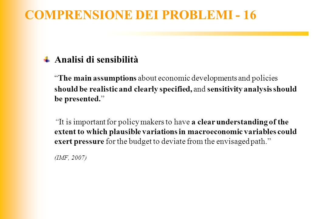 COMPRENSIONE DEI PROBLEMI - 16