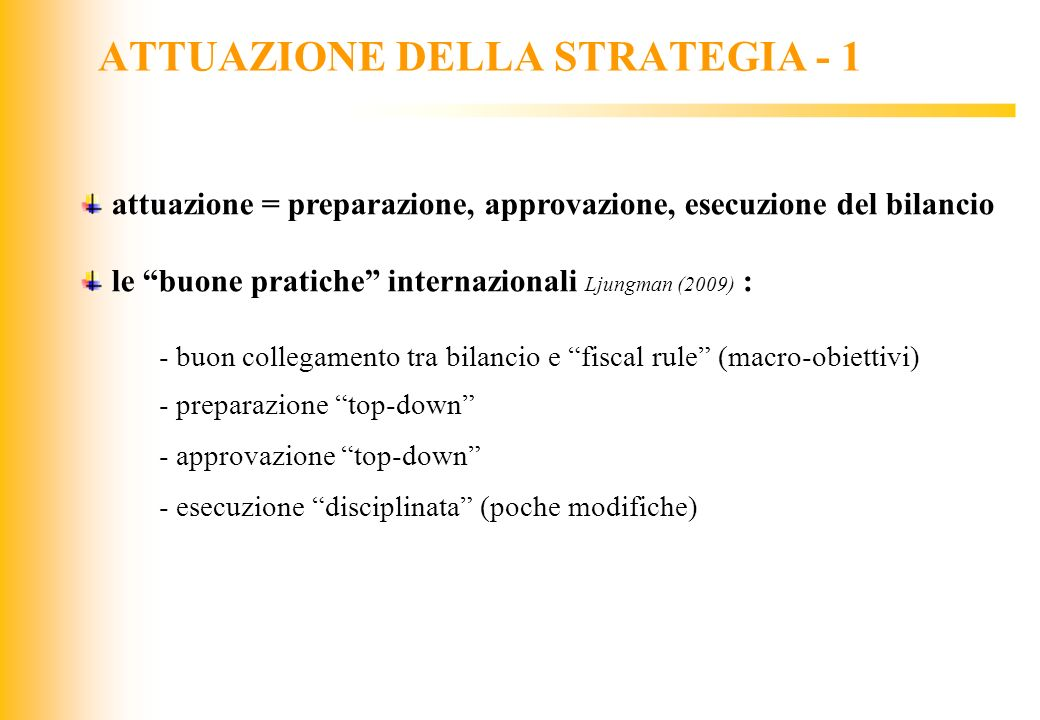 ATTUAZIONE DELLA STRATEGIA - 1
