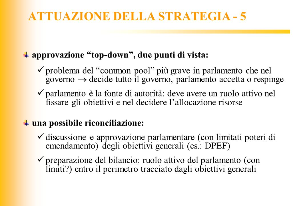 ATTUAZIONE DELLA STRATEGIA - 5