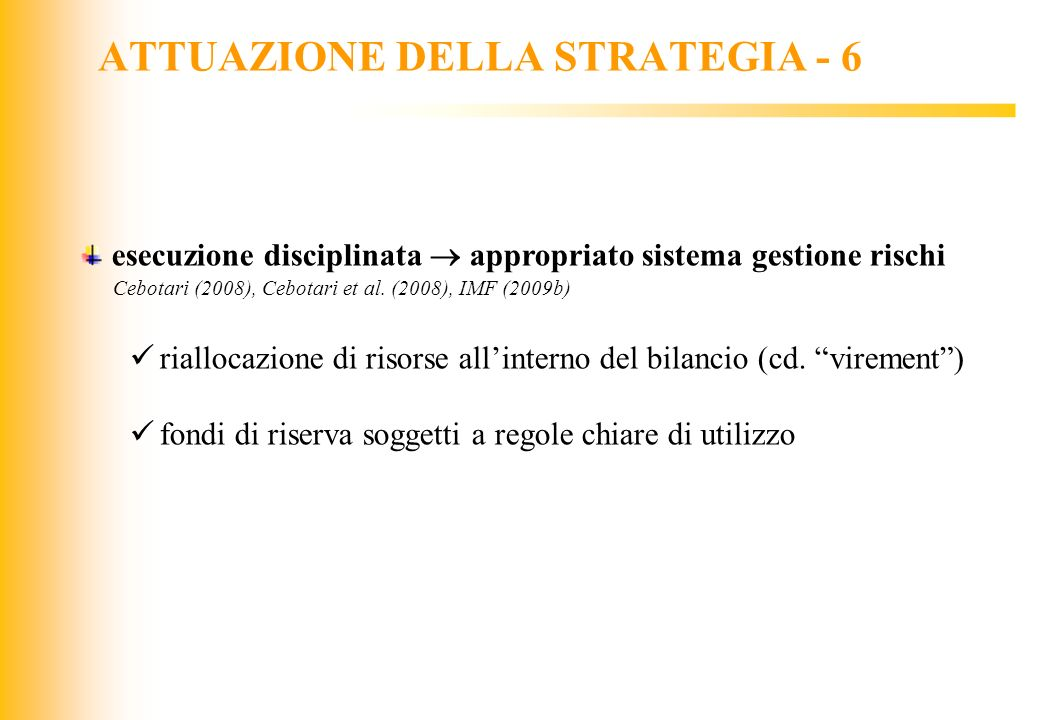 ATTUAZIONE DELLA STRATEGIA - 6