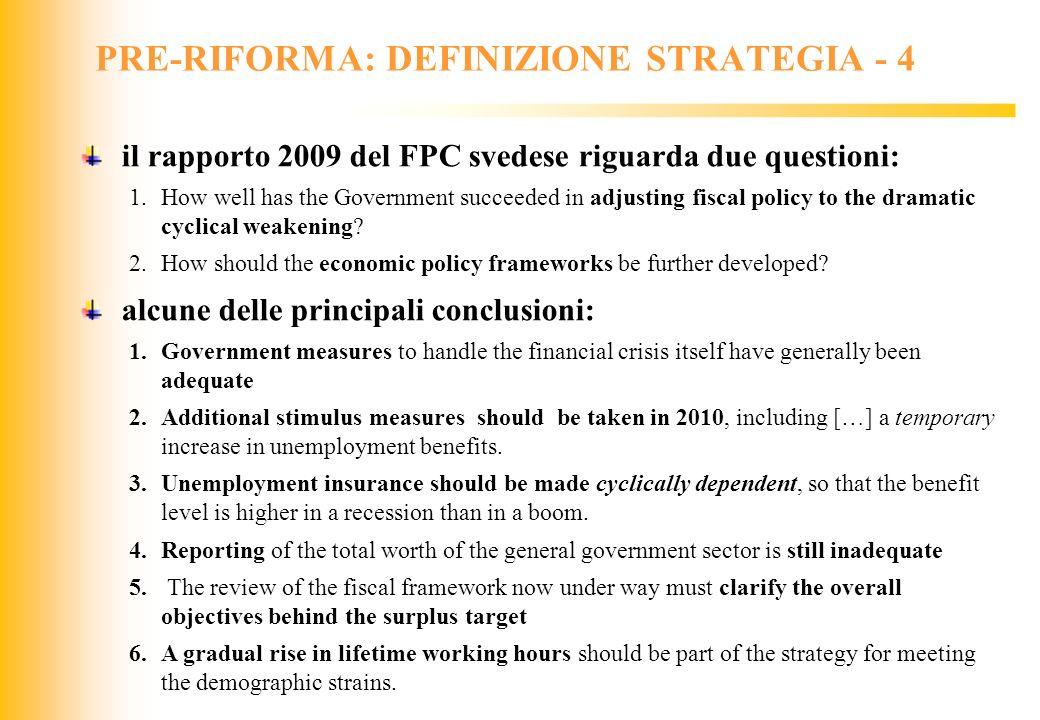 PRE-RIFORMA: DEFINIZIONE STRATEGIA - 4