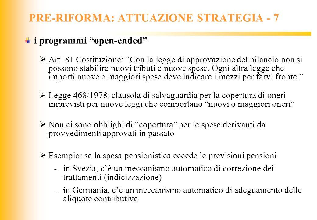 PRE-RIFORMA: ATTUAZIONE STRATEGIA - 7