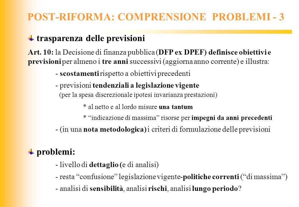 POST-RIFORMA: COMPRENSIONE PROBLEMI - 3