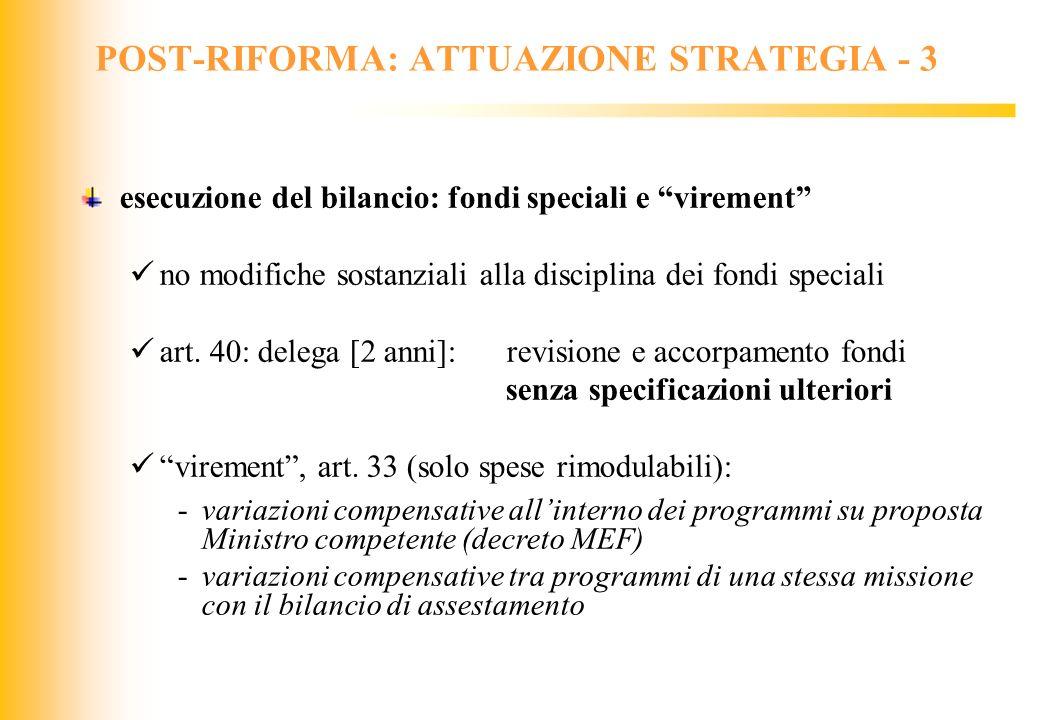 POST-RIFORMA: ATTUAZIONE STRATEGIA - 3