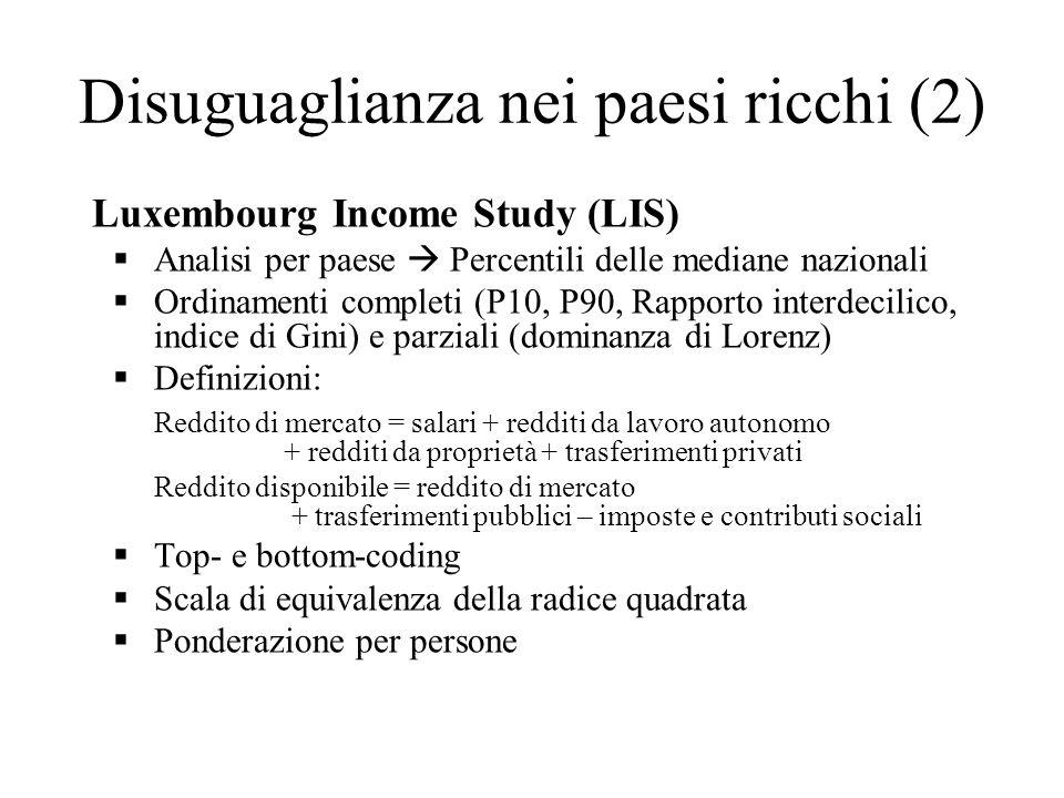 Disuguaglianza nei paesi ricchi (2)