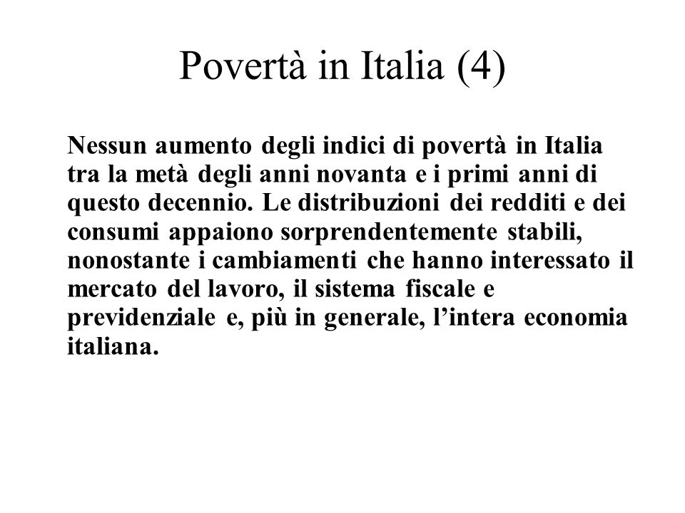 Povertà in Italia (4)