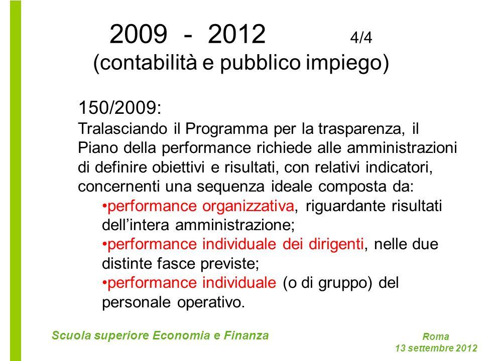 2009 - 2012 4/4 (contabilità e pubblico impiego)
