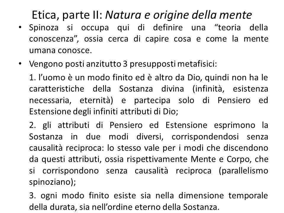 Etica, parte II: Natura e origine della mente