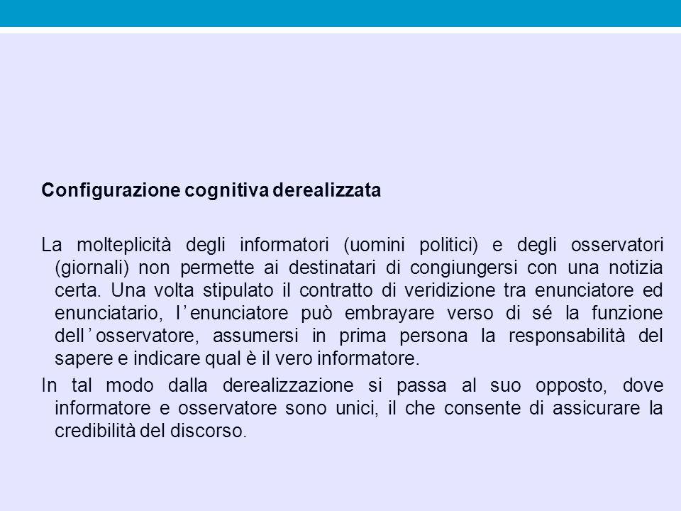 Configurazione cognitiva derealizzata