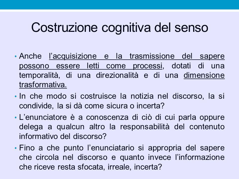 Costruzione cognitiva del senso