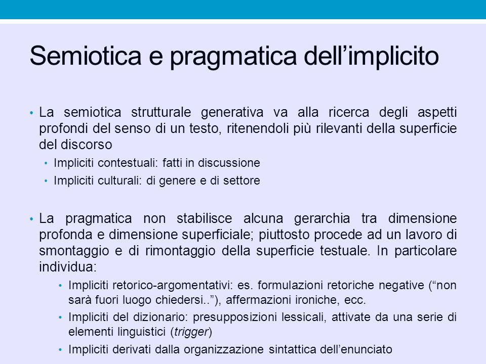 Semiotica e pragmatica dell'implicito