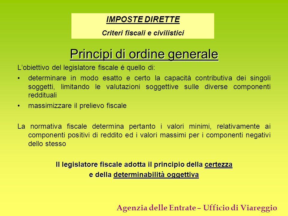 Principi di ordine generale