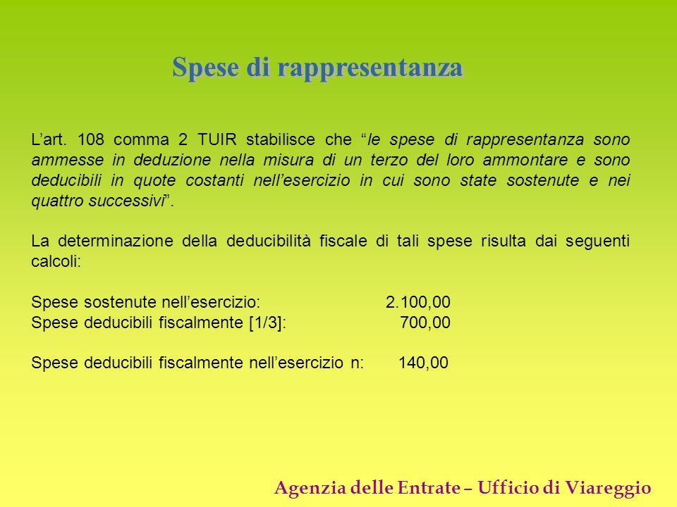 Spese di rappresentanza
