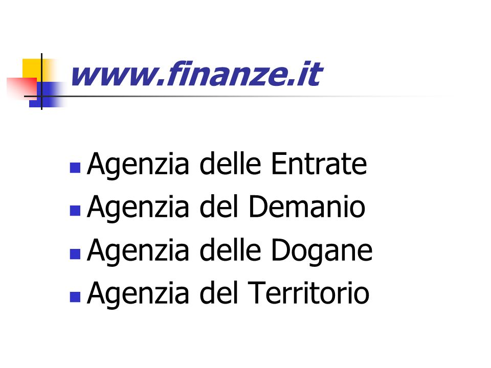 www.finanze.it Agenzia delle Entrate Agenzia del Demanio