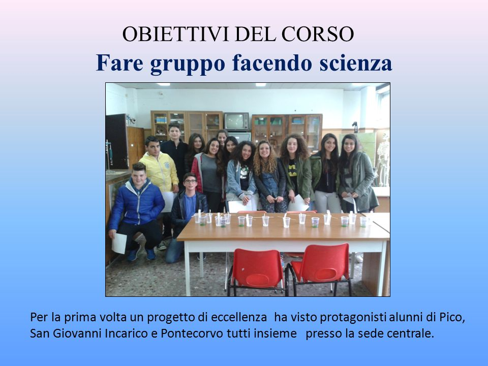 Fare gruppo facendo scienza