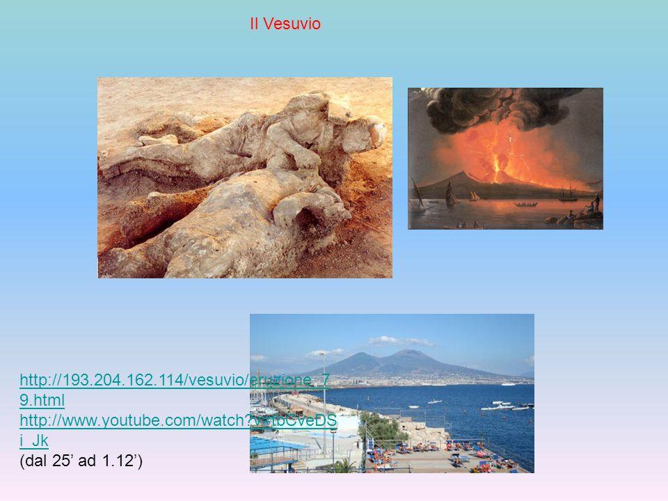 Il Vesuvio http://193.204.162.114/vesuvio/eruzione_79.html. http://www.youtube.com/watch v=tbCveDSi_Jk.