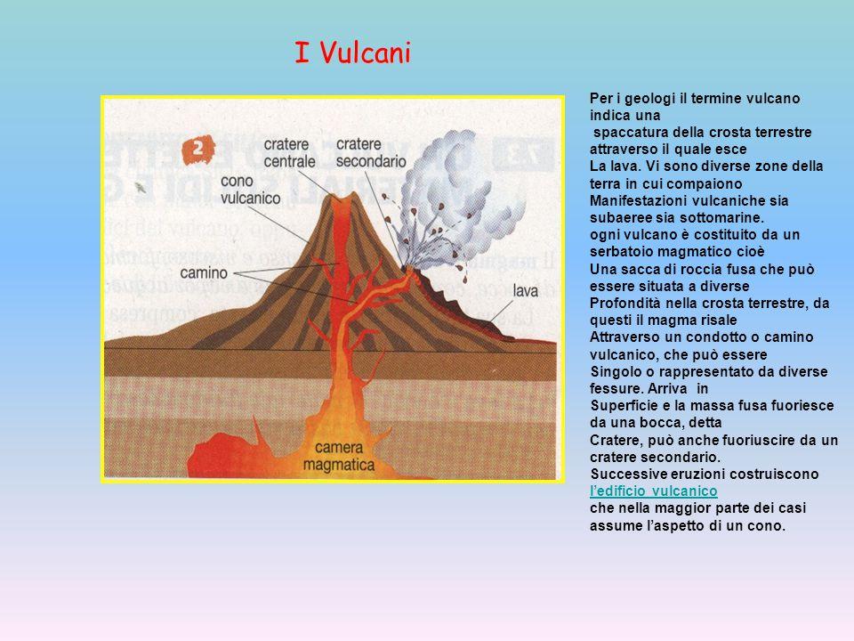 I Vulcani Per i geologi il termine vulcano indica una