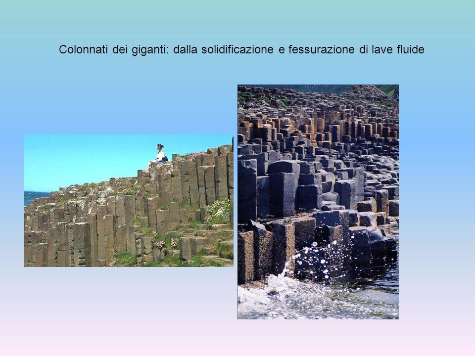 Colonnati dei giganti: dalla solidificazione e fessurazione di lave fluide