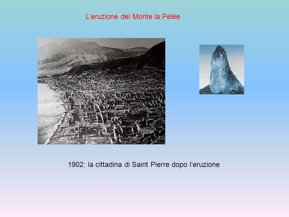 L'eruzione del Monte la Pelée