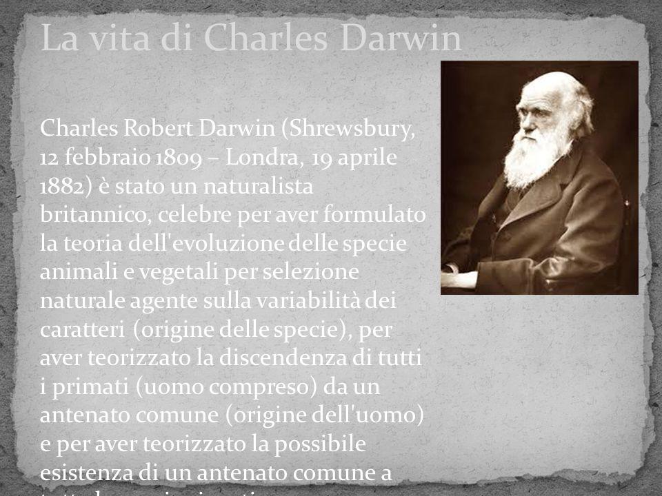 La vita di Charles Darwin