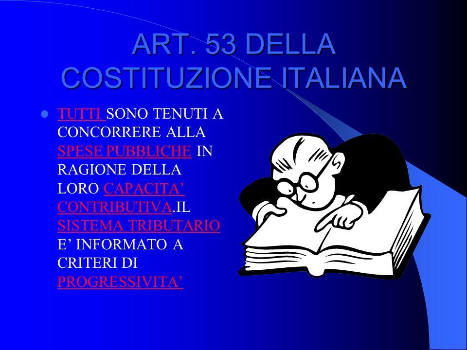 ART. 53 DELLA COSTITUZIONE ITALIANA