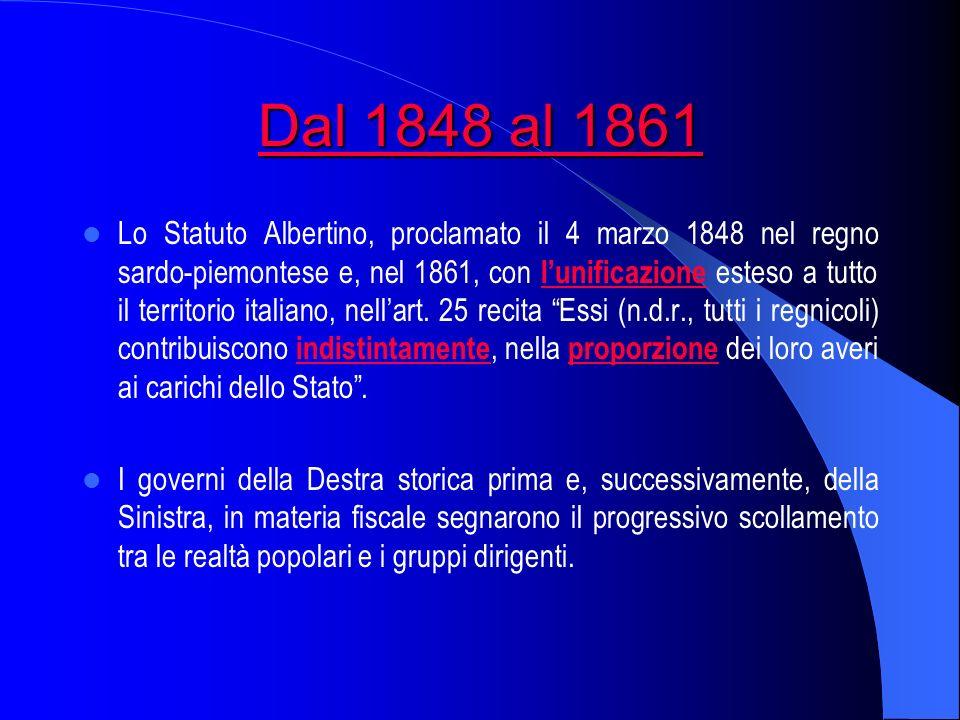 Dal 1848 al 1861