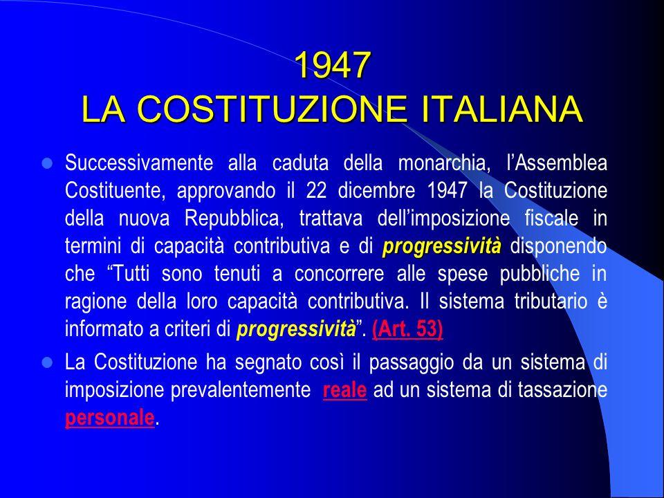 1947 LA COSTITUZIONE ITALIANA