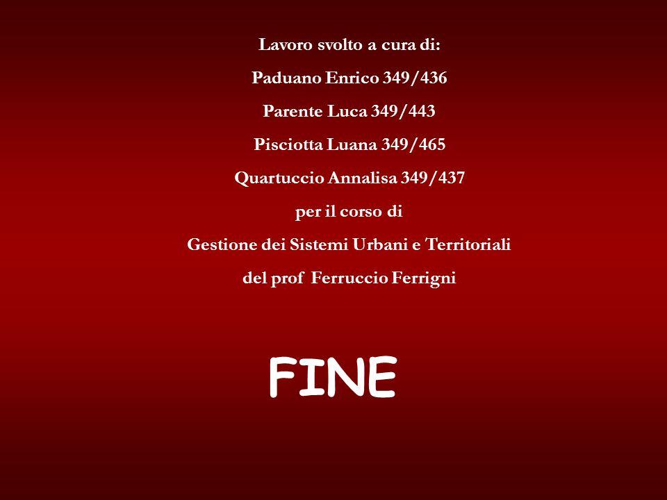 FINE Lavoro svolto a cura di: Paduano Enrico 349/436