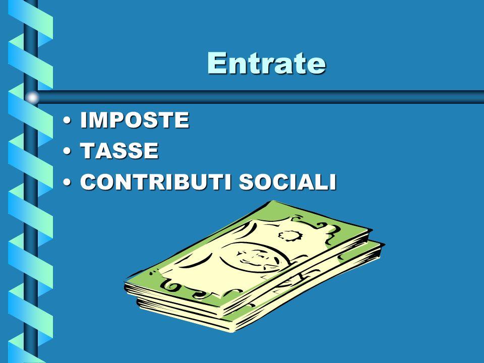 Entrate IMPOSTE TASSE CONTRIBUTI SOCIALI