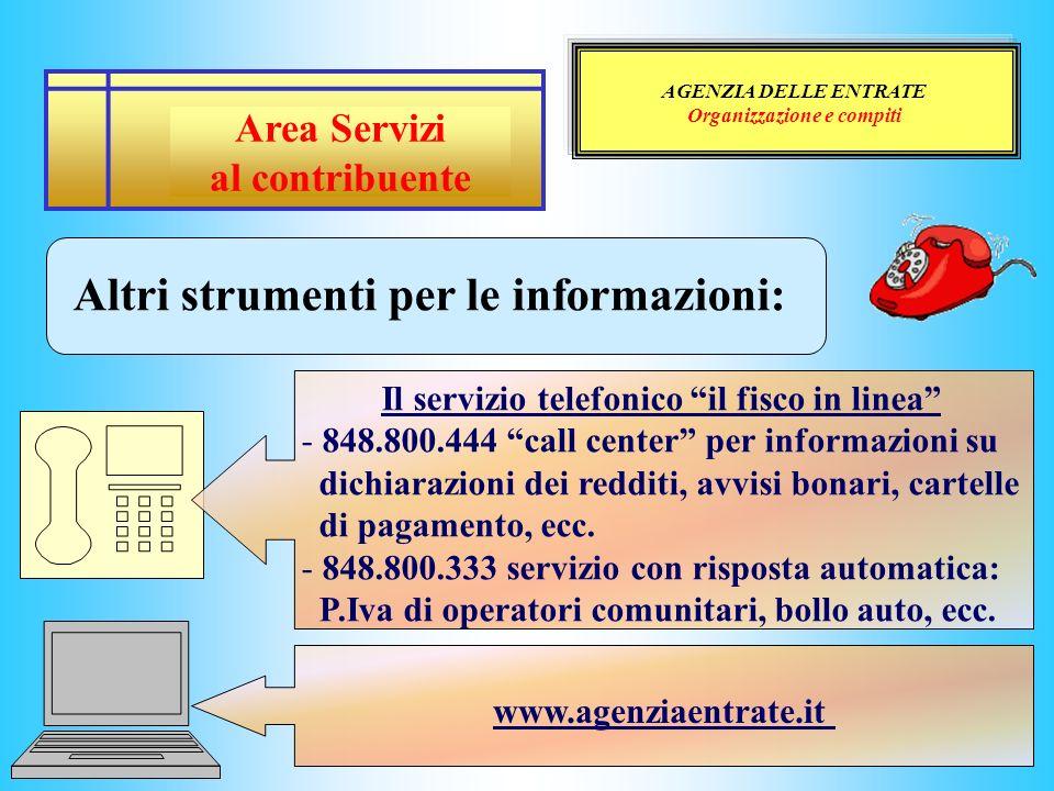Altri strumenti per le informazioni: