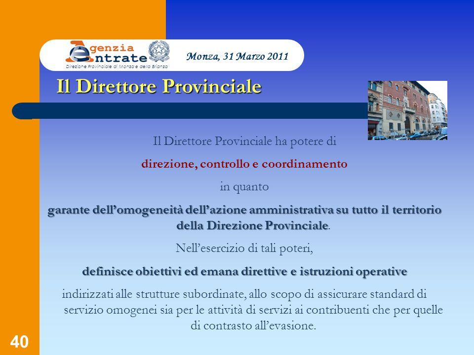 Il Direttore Provinciale
