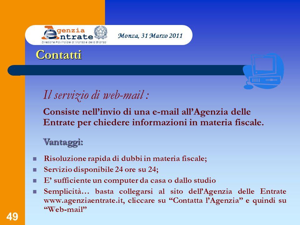 Il servizio di web-mail :