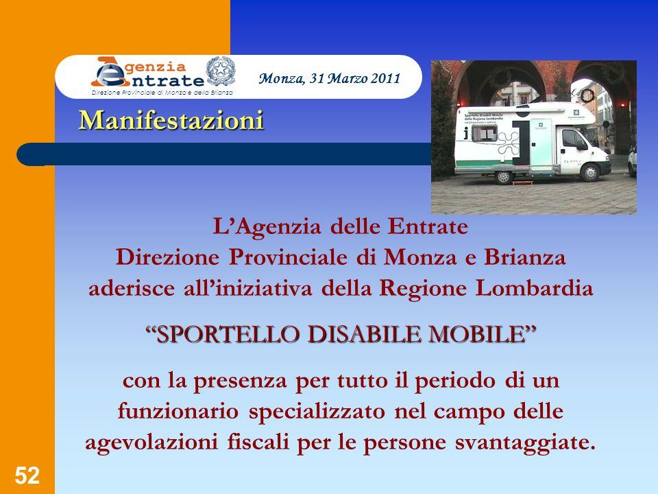 Monza, 31 Marzo 2011 Direzione Provinciale di Monza e della Brianza. Manifestazioni.