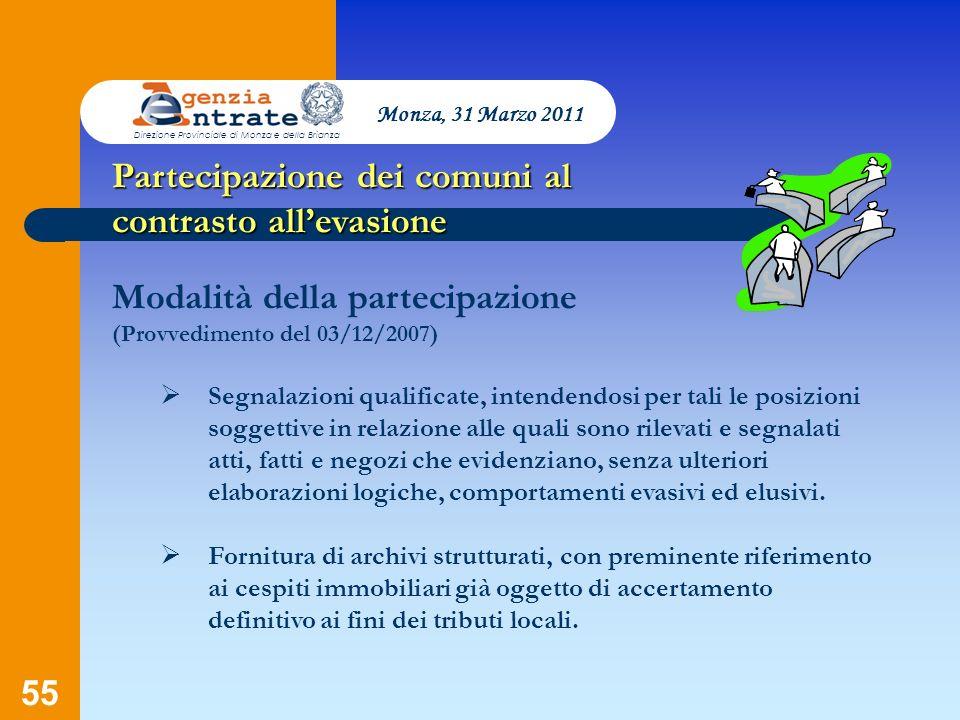Partecipazione dei comuni al contrasto all'evasione