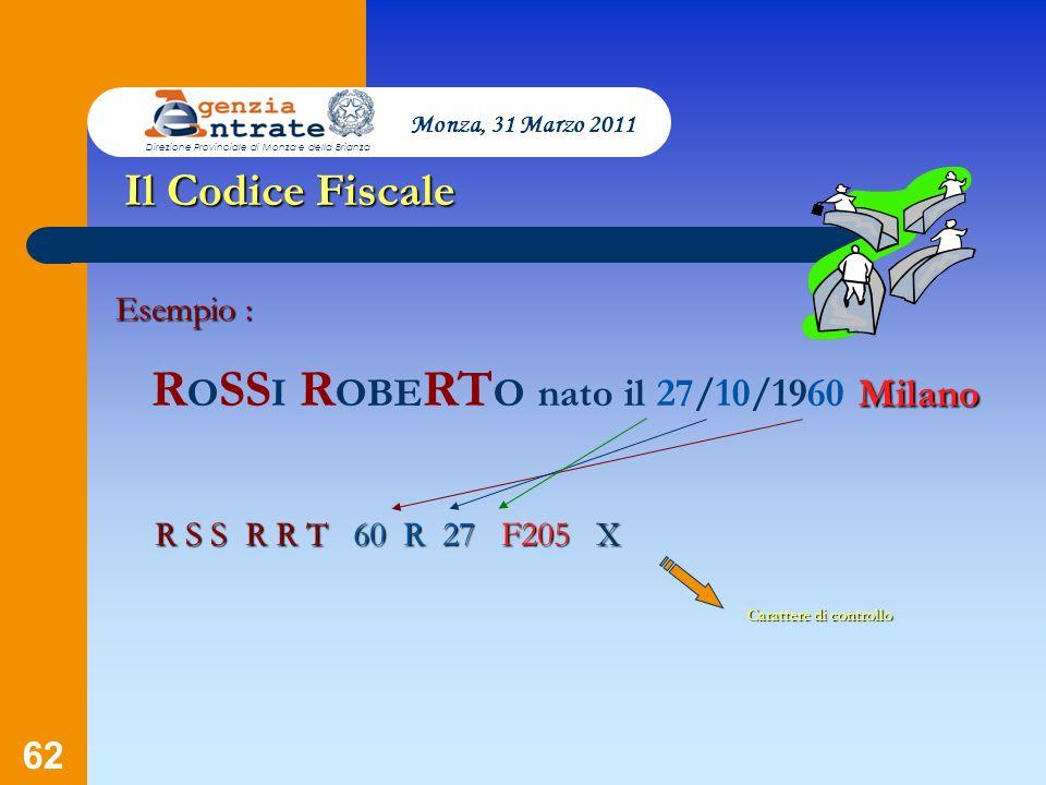 ROSSI ROBERTO nato il 27/10/1960 Milano