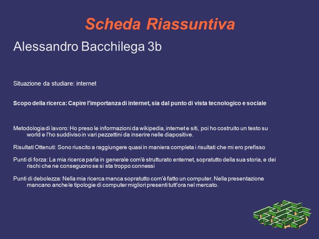 Scheda Riassuntiva Alessandro Bacchilega 3b