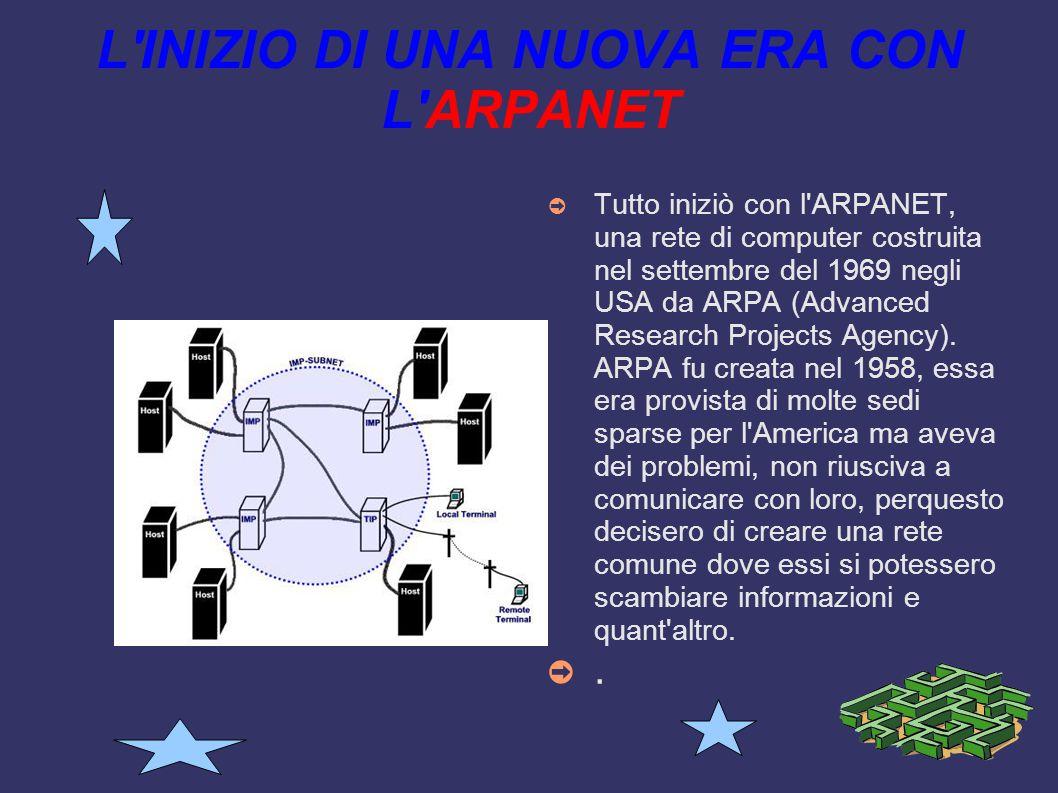L INIZIO DI UNA NUOVA ERA CON L ARPANET