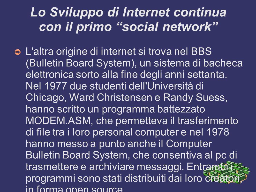 Lo Sviluppo di Internet continua con il primo social network
