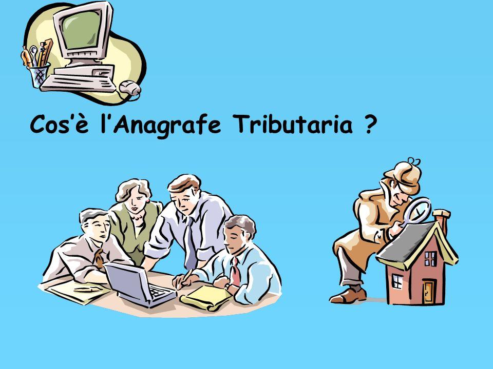 Cos'è l'Anagrafe Tributaria