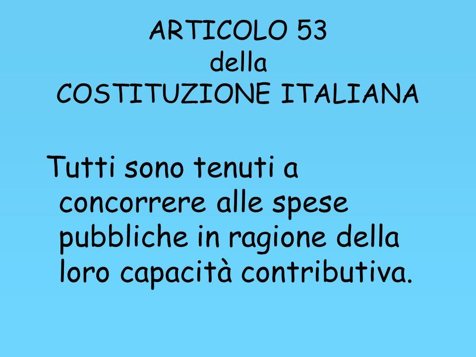 ARTICOLO 53 della COSTITUZIONE ITALIANA